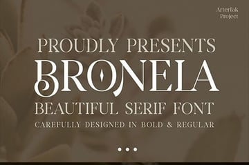 Bronela - Fashionable Serif