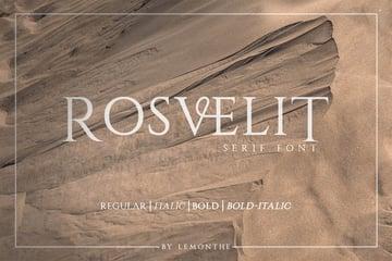 RosveliT | Ligature Serif Font