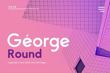 George Rounded Sans Serif Geometric Font