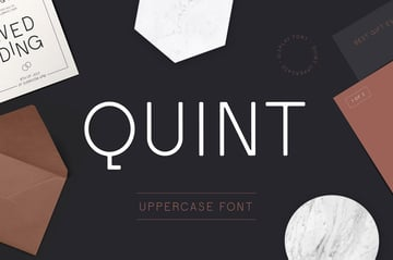 Quint Uppercase Geometric Font