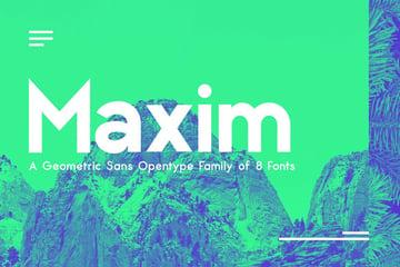 Maximus Geometric San Serif Font Family