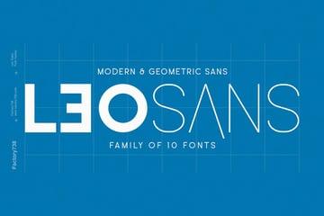 Leo Sans Modern Geometric Typeface