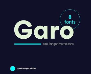 Garo Geometric San Serif Font