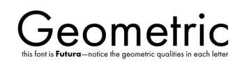 geometric font Futura