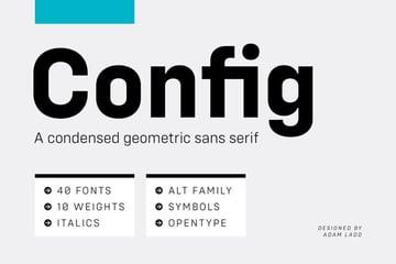 Config Geometric San Serif Font Family