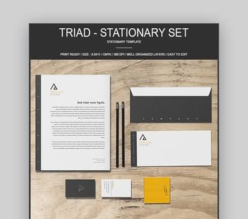 Triad - Stationery Identity Branding Set Design