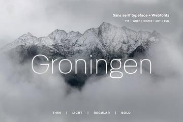 Groningen - Modern San-serif Typeface + Webfonts