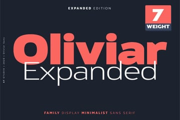 Oliviar Sans Extended Family