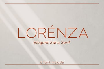 LORENZA - Elegant Sans Serif by Alterzone