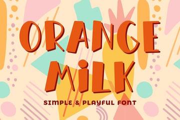 Orange Milk- Simple & Playful Font by Alterzone