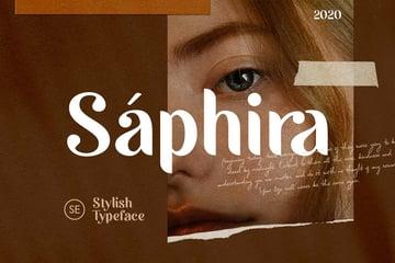 Saphira - Stylish Typeface by saridezra