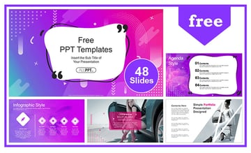 abstract aesthetic powerpoint template