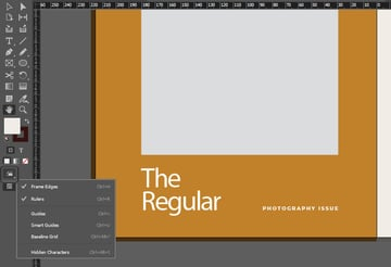 indesign options
