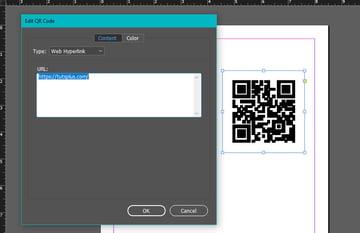 indesign qr code