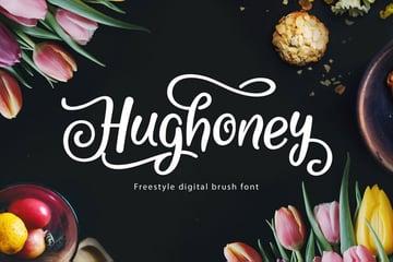 Hughoney Brush Script Cricut Font