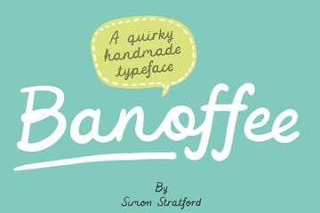 Banoffee Cute Script Font (Cricut Cursive Fonts that Connect)