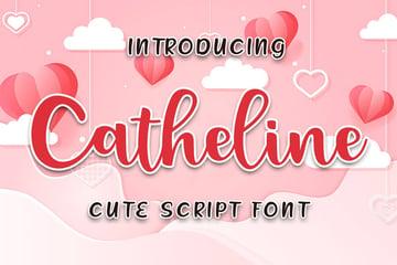 Catheline Cute Cricut Cursive Fonts