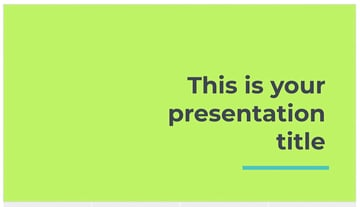 free neon ppt template