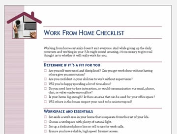 Free Work From Home Word Checklist Format Doc
