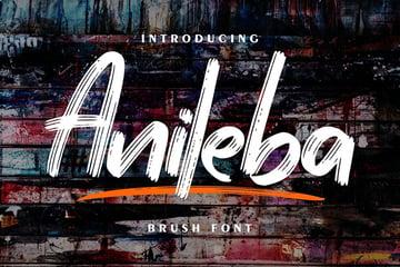 Anileba | Brush Font