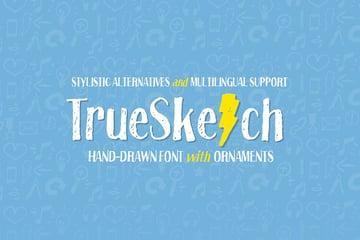 Truesketch Hand Drawn Sketch Font