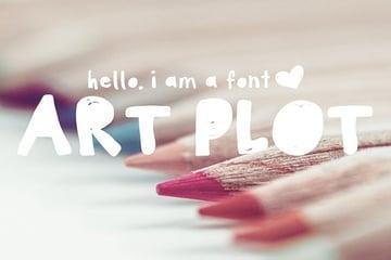 Art Plot Bold Hand Drawn Font