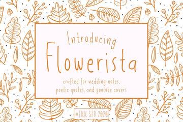 Flowerista - girly handwriting floral style