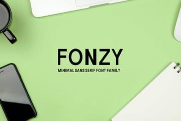 Fonzy Sans Serif Minimal Font Pack
