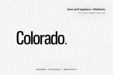 Colorado - Modern Typeface + WebFont