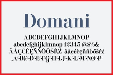 Domani High Contrast Serif Font