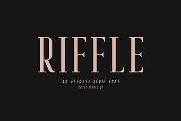 Riffle Serif Font Family