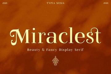 Miraclest Beautiful Serif Font