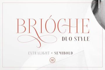 Brioche - ExtraLight & SemiBold