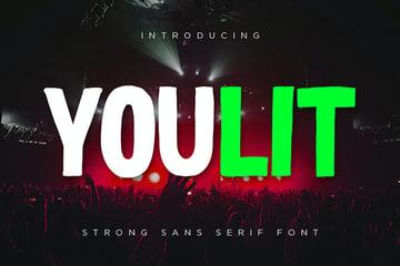 Youlit - Bold Strong Sans Serif Font