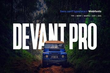 Devant pro - Modern Typeface + WebFont
