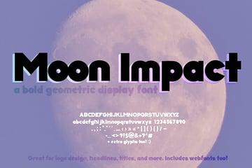 Moon Impact Font Bold (Geometric Font)