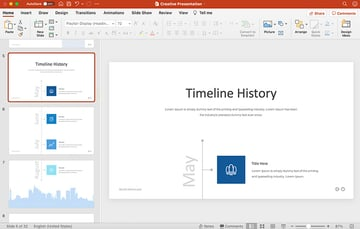 Product Timeline Slide Design