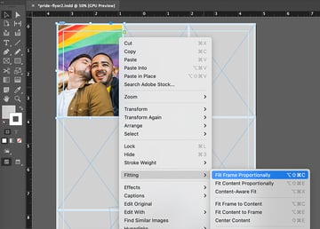 indesign fitting