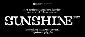 Sunshine Pro Free Font Family (Personal Use)
