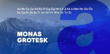 Monas Grotesk Free Bold Sans Serif Font