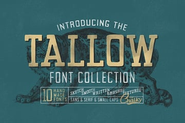 Tallow Font Collection (10 Fonts!)