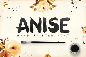 Anise Hand Painted Font