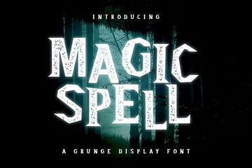 Magic Spell - Magical Grunge Display Font