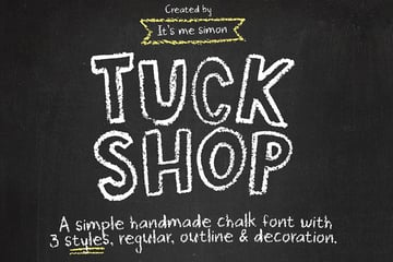 Tuck Shop Chalk Texture Font