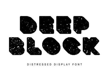 Deep Block Texture Road Font
