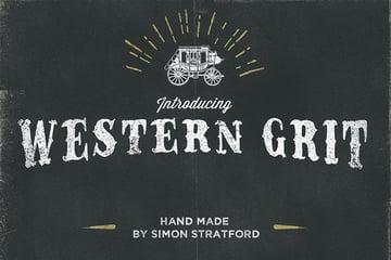 Western Grit Distressed Font