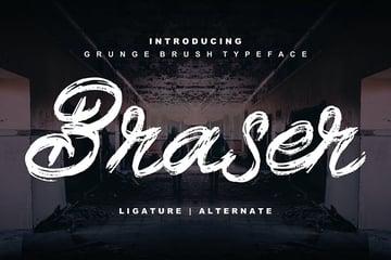 Braser | Grunge Brush Typeface