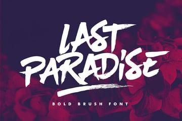 Last Paradise Brush Texture Font