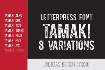 Tamaki Letterpress Grunge Font