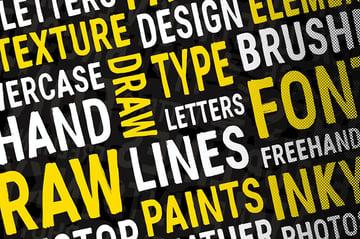 Flat Brush Texture Font